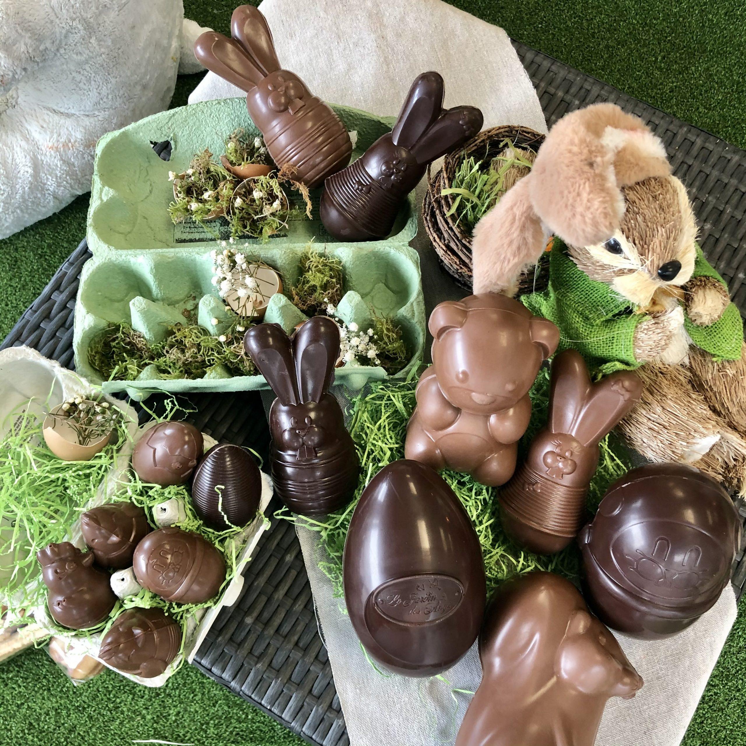 chocolat pâques jardin des anges landes